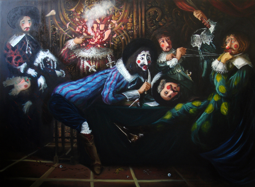 « L'académie », Huile/toile 97 x 128 cm 2008