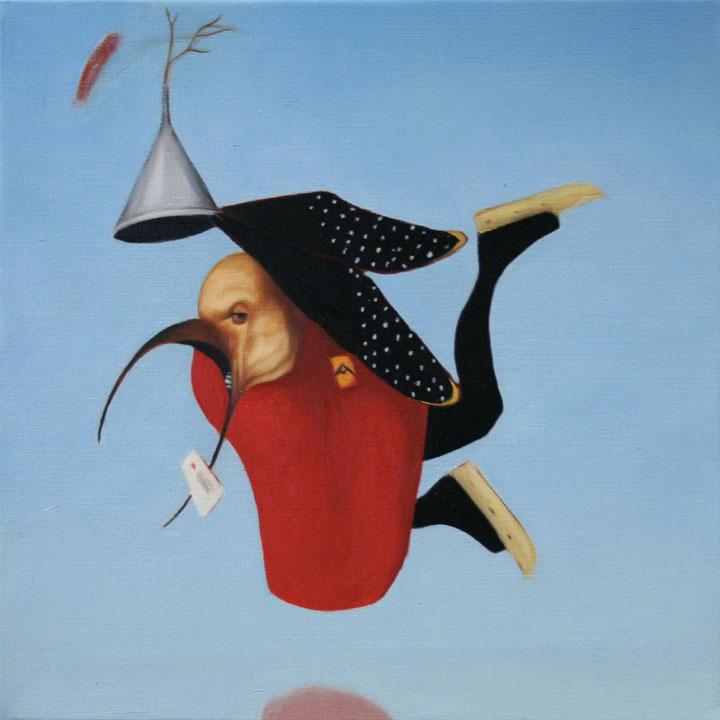 « Le messager du diable », série 1 (III) 2009 Huile/toile 30 x 30 cm 2009