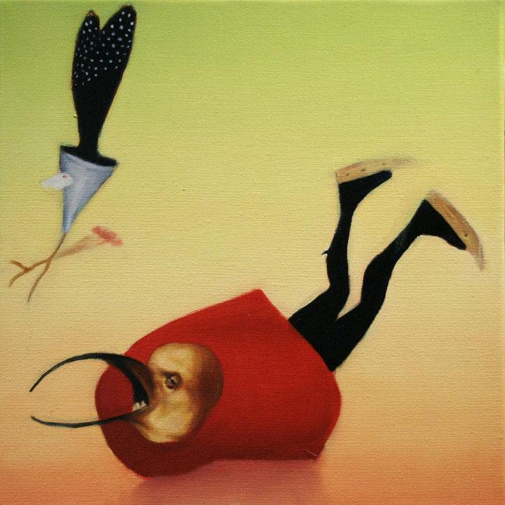 « Le messager du diable », série 1 (IV) 2009 Huile/toile 30 x 30 cm 2009