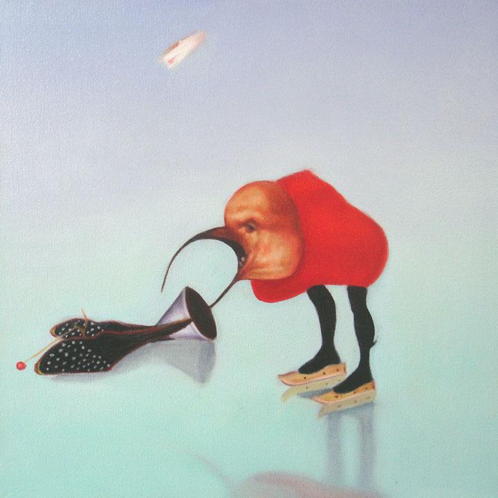 « Le messager du diable », série 1 (VII) 2009 Huile/toile 30 x 30 cm 2009