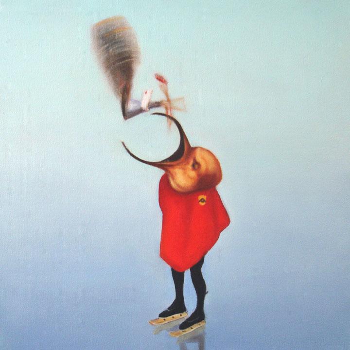 « Le messager du diable », série 1 (VIII) 2009 Huile/toile 30 x 30 cm 2009