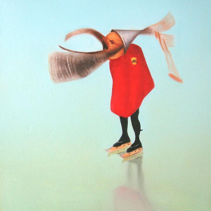 « Le messager du diable », série 1 (IX) 2009 Huile/toile 30 x 30 cm 2009