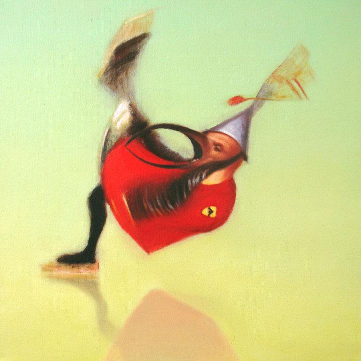 « Le messager du diable », série 1 (XI) 2009 Huile/toile 30 x 30 cm 2009