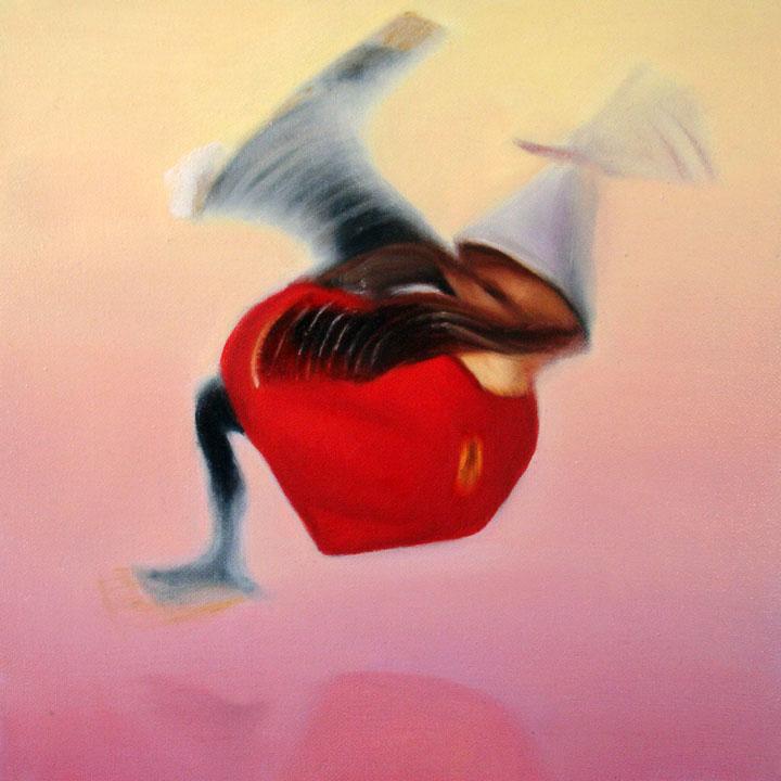 « Le messager du diable », série 1 (XII) 2009 Huile/toile 30 x 30 cm 2009