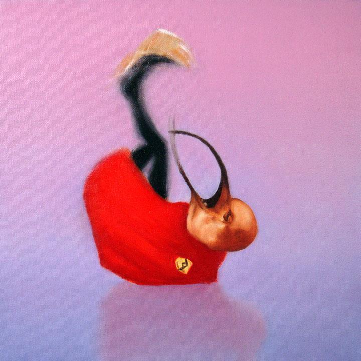 « Le messager du diable », série 1 (XIV) 2009 Huile/toile 30 x 30 cm 2009