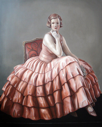 « MISS NORA », 162/130 cm, acrylic on canvas 2009