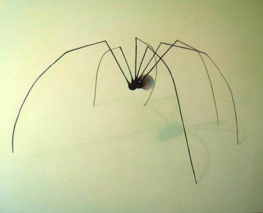 """Araignée en verre de Murano"", 152/130cm, acrylique sur toile 2009,"