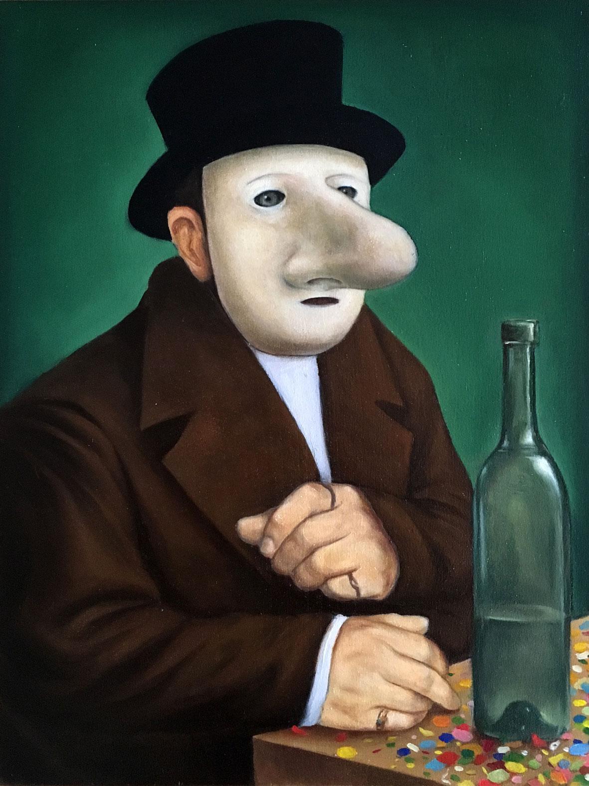 II,-L'homme-au-chapeau,-30x40cm