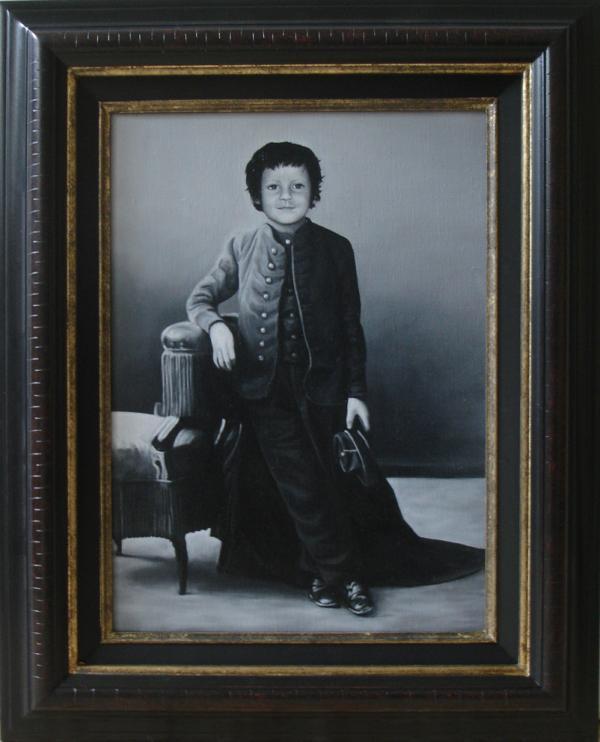 « Félicien Marboeuf, 1860  » 33/46 cm huile sur toile 2009