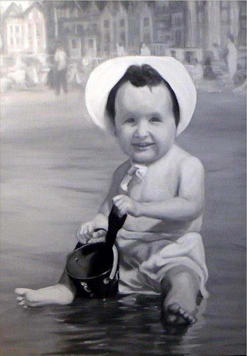 « Ma mère », 70 x 99 cm, Huile sur toile 2006