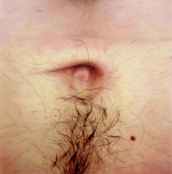 « Le bout du monde, le frère  » Huile sur toile (78/78cm) 2002