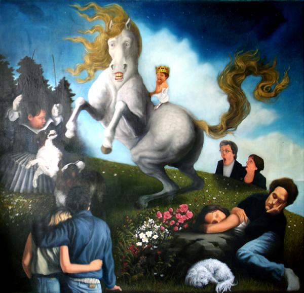 « Rêve de chien  » Huile sur toile (200/200) 2005