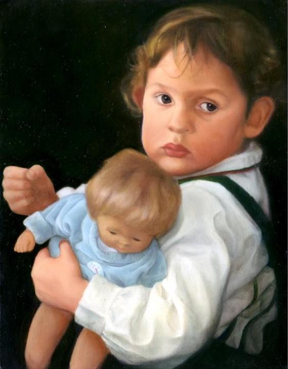 « Ma soeur », 35 x 27 cm, Huile sur bois 2004