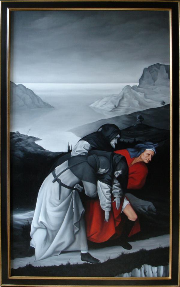« La tentation d' Antoine » (panneau gauche)