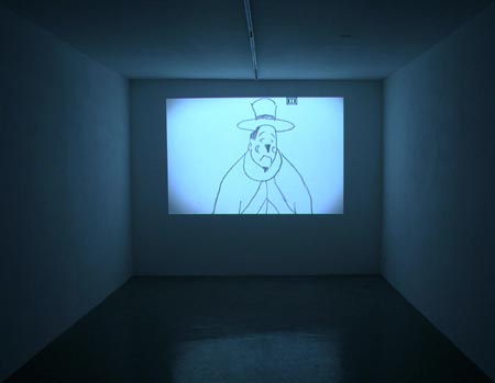 galerie Guy Bärtschi Projection de la vidéo « Le fumeur de cigare » 2010